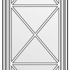 фасад со стеклом и решёткой тип Х 1316х447
