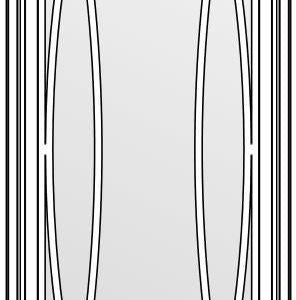 фасад со стеклом и решёткой тип О 1316х447