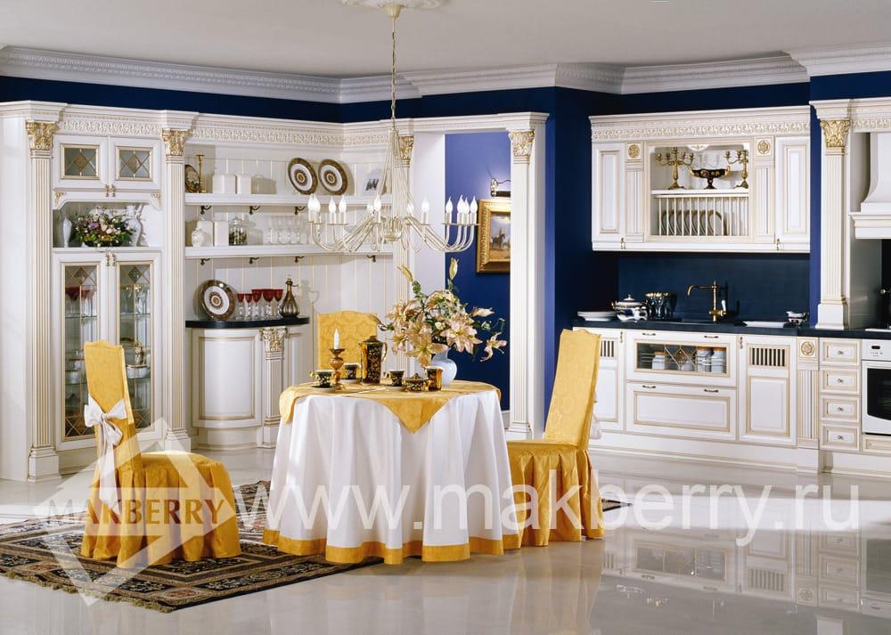 Кухня «Ника Д'ОРО белая»