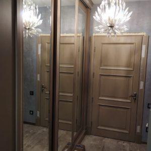 Шкаф купе. Двери из МДФ + Эмаль