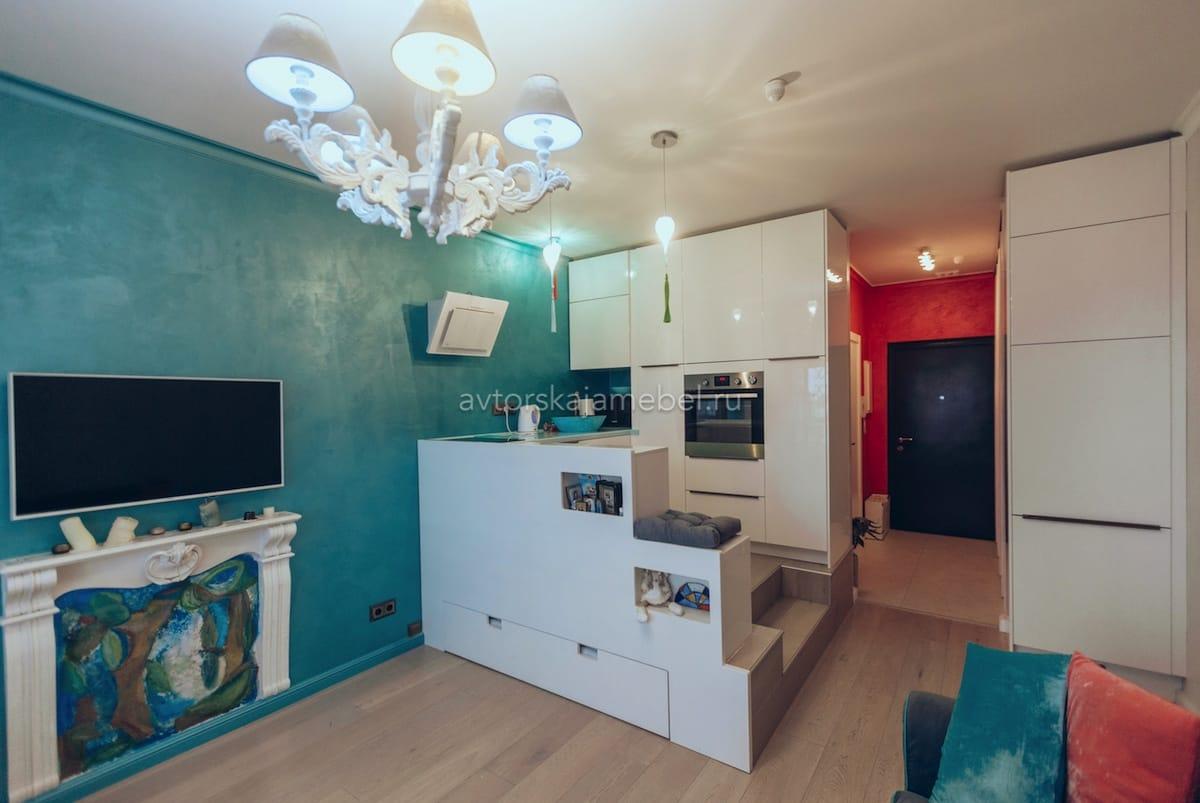 Кухня для оригинальной квартиры студии