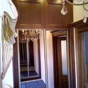 Шкаф из массива, фасады шпон дуба + лак
