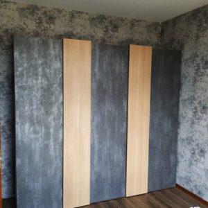 Шкаф из с фасадами из TSS пластика