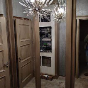 Шкаф-купе с дверьми МДФ + Эмаль