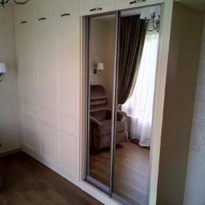 Шкаф стенка из шпон дуба и алюминиевый профиль